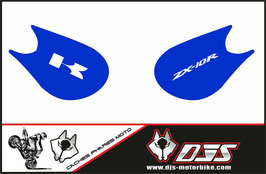 1 jeu de caches phares DJS pour Kawasaki zx10r 2006-2007 microperforé qui laissent passer la lumière - référence :zx10r-2006-2007-004-