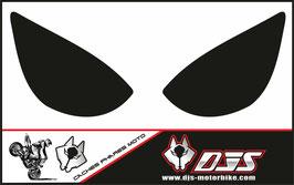 1 jeu de caches phares DJS pour Kawasaki zx6r microperforé qui laissent passer la lumière - référence : zx6r-2005-2006-noir uni-