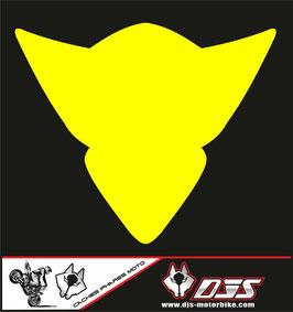 1 cache phare DJS pour Suzuki GSX-R 1000 2005-2006 microperforé qui laisse passer la lumière - référence : gsx-r-1000-2005-2006-couleur uni-
