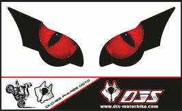 1 jeu de caches phares DJS pour HONDA CBR 1000 RR -2008-2011 microperforés qui laissent passer la lumière - référence : yeux modèle 1-