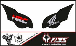 1 jeu de caches phares DJS pour HONDA CBR 1000 RR  microperforés qui laissent passer la lumière - référence : CBR 1000-2008-2011-011-