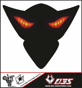 1 cache phare DJS pour SUZUKI GSX-R 1000 2005-2006 microperforé qui laisse passer la lumière - référence : yeux modèle 6-