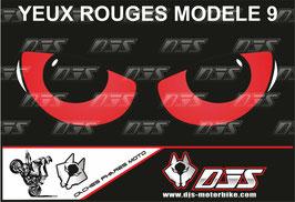1 jeu de caches phares DJS pour BMW S 1000 RR 2009-2014 microperforés qui laissent passer la lumière - référence : yeux modèle 9-
