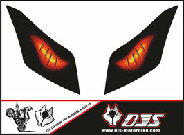 1 jeu de caches phares DJS pour yamaha T-MAX 2012-2016 microperforés qui laissent passer la lumière - référence : T-MAX-2012-2016-yeux modèle 2-