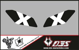 1 jeu de caches phares DJS pour Yamaha MT09 2017-2020 microperforés qui laissent passer la lumière - référence : MT 09 2017-2020-004-