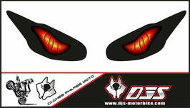 1 jeu de caches phares DJS pour Triumph daytona 2009-2012 microperforés qui laissent passer la lumière - référence : yeux modèle 6-