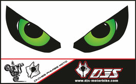 1 jeu de caches phares DJS pour Kawasaki Z1000 2015-2021 microperforés qui laissent passer la lumière - référence : z1000-2015-2021-yeux modèle 9-
