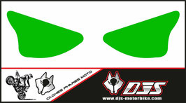 1 jeu de caches phares DJS pour Kawasaki zx6r microperforé qui laisse passer la lumière - référence : ZX6R-2003-2004-couleur uni-