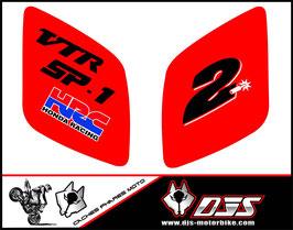 1 jeu de caches phares DJS pour Honda vtr sp1-sp2  microperforés qui laissent passer la lumière - référence : VTR SP1-SP2-003-