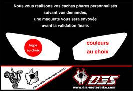 1 jeu de caches phares DJS pour YAMAHA r6 1999-2002 microperforés qui laissent passer la lumière - référence : r6-1999-2002-personnalisé