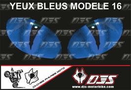 1 jeu de caches phares DJS pour Yamaha r6 de 2003-2005  microperforés qui laissent passer la lumière - référence : Yamaha r6 de 2003-2005 -yeux modèle 16-