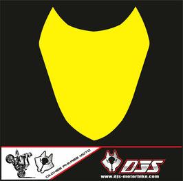 1 cache phare DJS pour Suzuki gsx r 1000 2003-2004 microperforé qui laisse passer la lumière - référence : gsxr 1000-2003-2004-couleur uni-