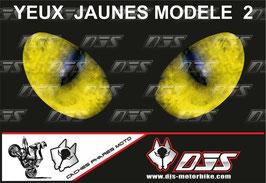 1 cache phare DJS pour SUZUKI GSR 750 2011-2017 microperforé qui laisse passer la lumière - référence : SUZUKI GSR 750 2011-2017-yeux modèle 2-