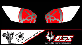 1 jeu de caches phares DJS pour YAMAHA r6 1999-2002 microperforés qui laissent passer la lumière - référence : r6-1999-2002-017