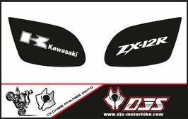 1 jeu de caches phares DJS pour Kawasaki zx12r microperforés qui laissent passer la lumière - référence : zx12r-2000-2001-001-