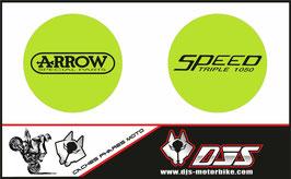 1 jeu de caches phares DJS pour Triumph speed triple microperforés qui laissent passer la lumière - référence : speed triple-2007-2010-011-