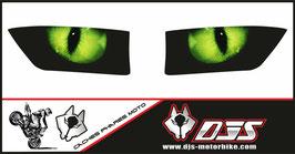 1 jeu de caches phares DJS pour HONDA CBR RR 2013-2017 microperforés qui laissent passer la lumière - référence : CBRRR-2013-2017-yeux verts-
