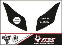 1 jeu de caches phares DJS pour yamaha T-MAX 2012-2016 microperforés qui laissent passer la lumière - référence : T-MAX-2012-2016-personnalisé-