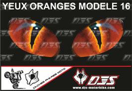 1 jeu de caches phares DJS pour KTM DUKE 890 2020-2021 microperforés qui laissent passer la lumière - référence : yeux modèle 16-