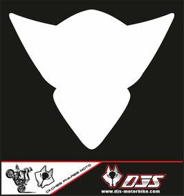 1 cache phare DJS pour Suzuki GSX-R 1000 2005-2006 microperforé qui laisse passer la lumière - référence : gsx-r-1000-2005-2006-blanc uni-
