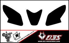 1 jeu de caches phares DJS pour Aprilia rsv4 2014-2016 microperforés qui laissent passer la lumière - référence : rsv4-2014-2019-fond noir uni