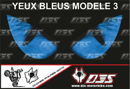 1 cache phare DJS pour  SUZUKI  GSX-R 1000 2003-2004 microperforé qui laisse passer la lumière - référence : yeux modèle 3-