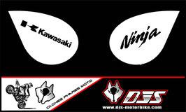 1 jeu de caches phares DJS pour Kawasaki zx6r microperforés qui laissent passer la lumière - référence : zx6-r-2007-2008-012