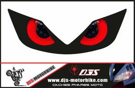 1 jeu de  caches phares DJS pour Honda CBR 600f-2001-2006 microperforés qui laissent passer la lumière - référence : CBR 600f-2001-2006-yeux 010-