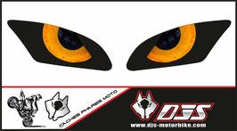 1 jeu de caches phares DJS pour Yamaha r6 2006-2016 microperforés qui laissent passer la lumière - référence : Yamaha r6 2006-2016-yeux modèle 10-