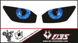 1 jeu de caches phares DJS pour YAMAHA r6 1999-2002 microperforés qui laissent passer la lumière - référence : YAMAHA r6 1999-2002-yeux modèle 7-