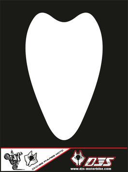 1 cache phare DJS pour Suzuki hayabusa avant 2008 microperforé qui laisse passer la lumière - référence : hayabusa-avant 2008-blanc uni-