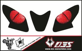 1 jeu de caches phares DJS pour APRILIA RSV4 2014-2020 microperforés qui laissent passer la lumière - référence : yeux modèle 8-