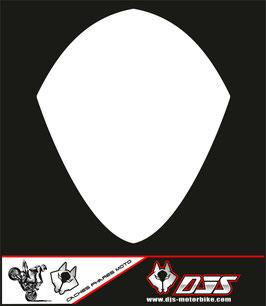 1 cache phare DJS pour SUZUKI GSX-R 1000 2007-2008 microperforé qui laisse passer la lumière - référence : GSXR 1000-2007-2008-blanc uni-