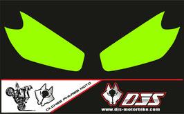 1 jeu de caches phares DJS pour KAWASAKI ER6-F 2009-2011 microperforés qui laissent passer la lumière - référence : KAWASAKI ER6-F 2009-2011-FOND COULEUR UNI-