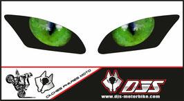 1 jeu de caches phares DJS pour Yamaha r6 2006-2016 microperforés qui laissent passer la lumière - référence : Yamaha r6 2006-2016-yeux modèle 2-