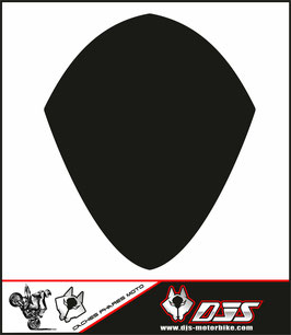 1 cache phare DJS pour SUZUKI GSX-R 1000 2007-2008 microperforé qui laisse passer la lumière - référence : GSXR 1000-2007-2008-noir uni-