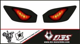 1  jeu de  caches phares DJS pour YAMAHA r6 1999-2002 microperforés qui laissent passer la lumière - référence : YAMAHA r6 1999-2002-yeux modèle 6-