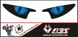 1 jeu de caches phares DJS pour Yamaha r6 de 2003-2005  microperforés qui laissent passer la lumière - référence : Yamaha r6 de 2003-2005 -yeux modèle 1-