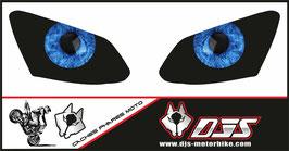 1 jeu de caches phares DJS pour YAMAHA R1 2007-2008 microperforés qui laissent passer la lumière - référence : YAMAHA R1 2007-2008-yeux modèle 7-