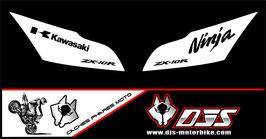 1 jeu de caches phares DJS pour Kawasaki ZX10R 2011-2015 microperforés qui laissent passer la lumière - référence : zx10r-2011-2015-015