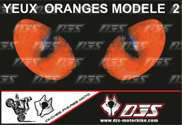 1 jeu de caches phares DJS pour KTM DUKE 790 2018-2021 microperforés qui laissent passer la lumière - référence : yeux modèle 2-