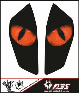 1 jeu de caches phares DJS pour KTM DUKE 890 2020-2021 microperforés qui laissent passer la lumière - référence : yeux modèle 1-
