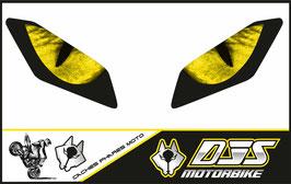 1 jeu de caches phares DJS pour Yamaha MT09 2017-2020 microperforés qui laissent passer la lumière - référence : Yamaha MT09 2017-2020-yeux modèle 3-