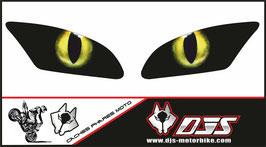 1 jeu de caches phares DJS pour Yamaha r6 2006-2016 microperforés qui laissent passer la lumière - référence : Yamaha r6 2006-2016-yeux modèle 12-