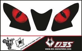 1 jeu de caches phares DJS pour Aprilia TUONO 2014-2020 microperforés qui laissent passer la lumière - référence : yeux modèle 1-