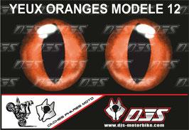 1 jeu de caches phares DJS pour  KTM SUPERDUKE 1290 2017-2021  microperforés qui laissent passer la lumière - référence : yeux modèle 12-