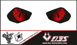 1 jeu de caches phares DJS pour YAMAHA R6 2017-2021 microperforés qui laissent passer la lumière - référence : YAMAHA R6 2017-2021-yeux modèle 4-