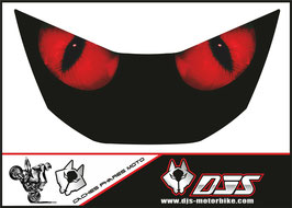 """1 cache phare DJS pour Honda CBR 929 microperforé qui laisse passer la lumière - référence : CBR 929-2000-2002-""""yeux rouges""""-"""