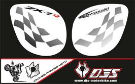 1 jeu de caches phares DJS pour Kawasaki zx7r 1999 microperforés qui laissent passer la lumière - référence : zx7-r-1999-003-