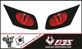 1 jeu de caches phares DJS pour YAMAHA FZ1 2006-2009 microperforés qui laissent passer la lumière - référence : FZ1-2006-2009-YEUX 016 -